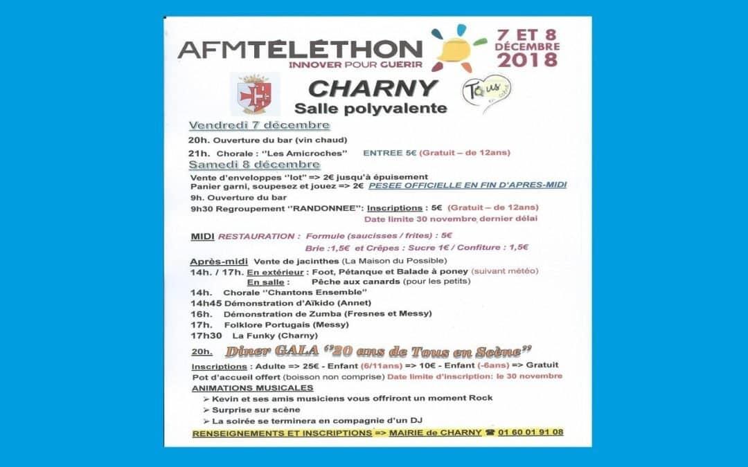 Participation au Téléthon 2018 à Charny